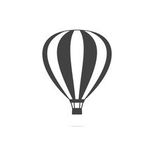 Hot Air Balloon Icon Vector Tr...