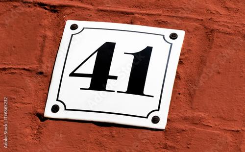 Papel de parede Hausnummer 41