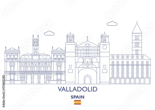 Valladolid Linear City Skyline, Spain