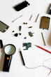 Various cellphone parts and tools