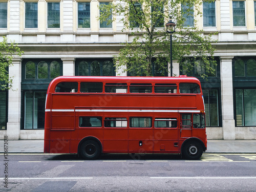 Poster Londen rode bus London red bus