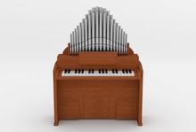 Wooden Harmonium 3D Illustrati...
