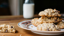 Stack Of Oatmeal Cookies On A ...