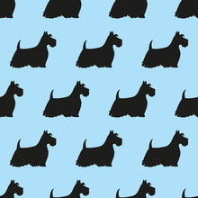 Seamless Pattern With Black Si...