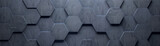 Fototapeta Kamienie - Concrete Wide Hexagon Background (Site head) (3d illustration)