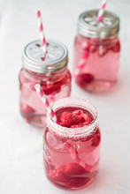 Raspberry And Rose Water Cordial