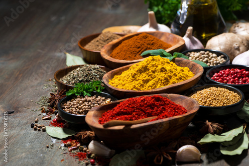 Canvas Prints Spices assortment of spices and herbs, selective focus
