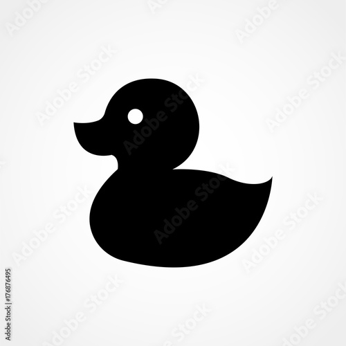 Vászonkép Rubber duck, ducky bath toy flat icon for apps and websites