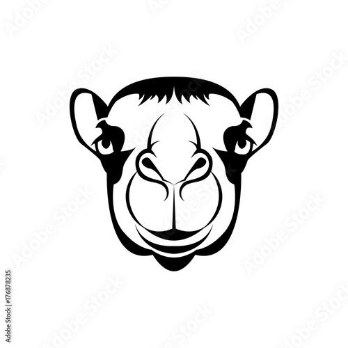 Vector camel head, face for retro hipster logos, emblems