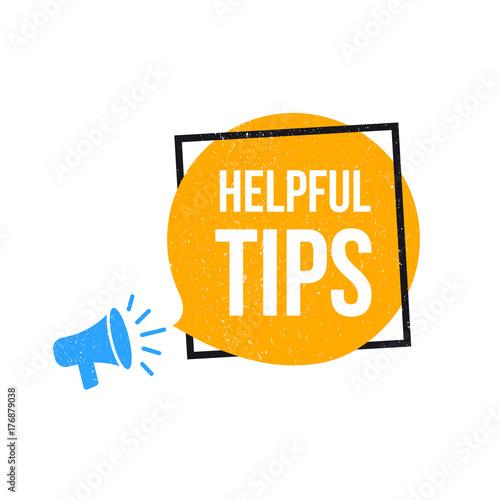 Fotografía  Helpful Tips Megaphone Label