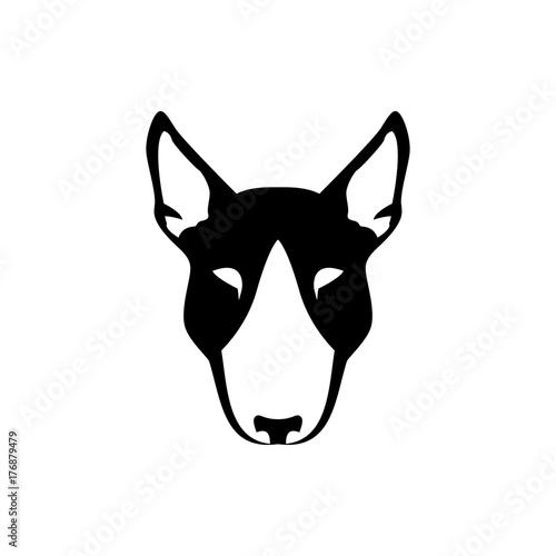 Vector dog head, face for retro hipster logos, emblems
