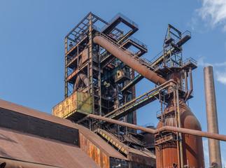 Fototapeta na wymiar Old blast furnance, Ostrava, Czech Republic