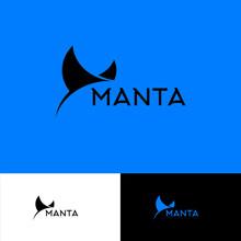 Manta Ray Logo. Diving Club E...
