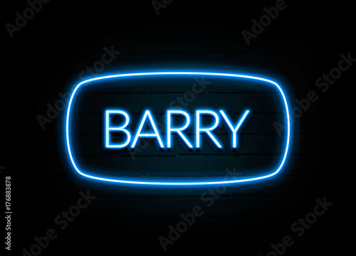 Photo Barry  - colorful Neon Sign on brickwall