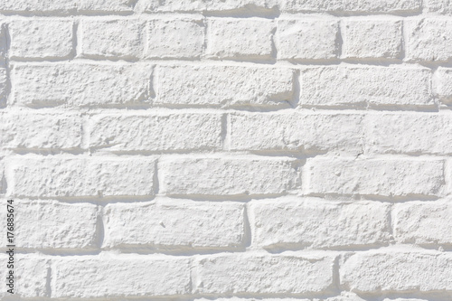 Blank white brick wall - 176885674