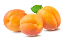 Fresh Apricot Isolated On Whit...