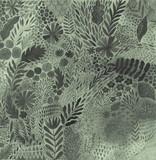 Streszczenie botaniczne malarstwo etniczne akwarela. Artystyczny ręcznie wykonany batik, kwiatowy orientalny materiał, tkanina. - 176886839