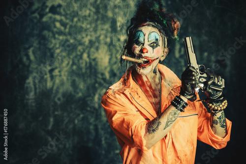 killer with a gun Fototapet