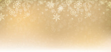 Winter Christmas Background Gold