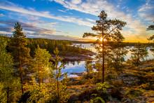 Russia. Karelia. Ladoga Lake. ...
