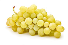 Fresh Green Grapes Isolated On...