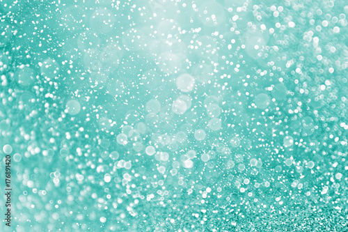 Abstract Teal Green Glitter And Aqua Mint Sparkle Background