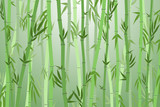 Fototapeta Sypialnia - Cartoon Bamboo Forest Landscape Background. Vector