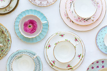 Vintage Crockery From Above