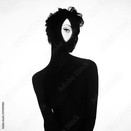 Recess Fitting womenART Nude elegant woman wearing shadow