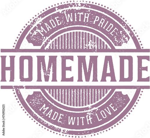Vászonkép Homemade Product Label
