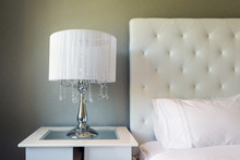 Contemporary Bedside With Whit...