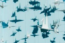 White Origami Paper Cranes Han...