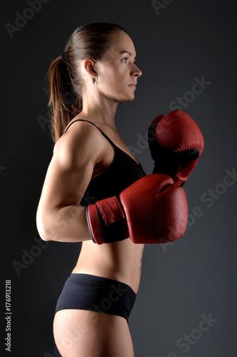 Plakat Kobieta bokser