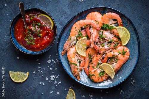 Cooked big shrimps