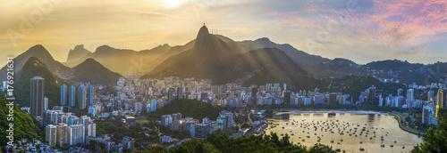 Spoed Foto op Canvas Brazilië Panoramic view of Rio De Janeiro, Brazil landscape