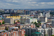 View of Novosibirsk city center. Panorama of busuness city.