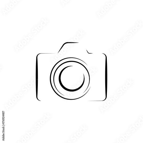 Slika na platnu Photo camera silhouette logo icon