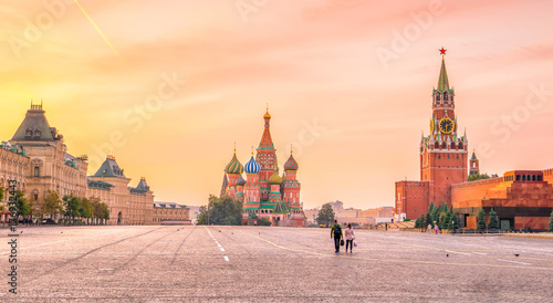 Canvas Prints Asian Famous Place Basil's cathedral at Red square in Moscow