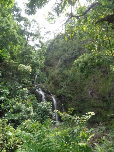 Keuken foto achterwand Olijf Wasserfall