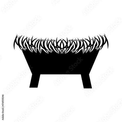 Fotografija straw cradle manger christianity element icon