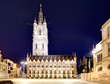 canvas print picture - Belfort tower in historical part city of Ghent, Belgium