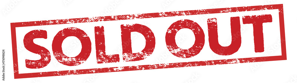 Fototapety, obrazy: sold out square sign stamp