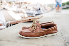 Mens Brown Loafers Shoe On A P...