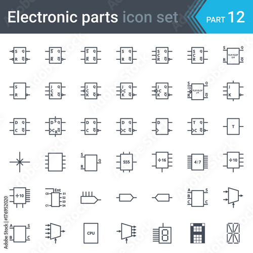 complete vector set of electric and electronic circuit diagram circuit diagram legend complete vector set of electric and electronic circuit diagram symbols and elements digital electronics,