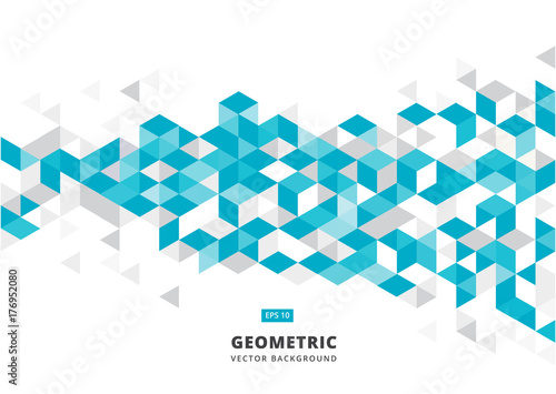 abstract blue geometric background with polygonal triangles