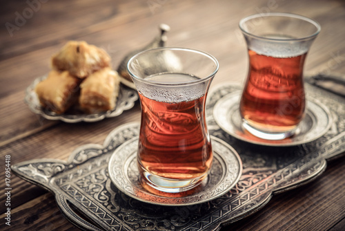 Wall Murals Tea Cup of turkish tea
