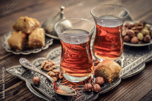 Foto auf Leinwand Kaffee Cup of turkish tea