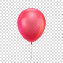 Red Realistic Balloon. Red Bal...