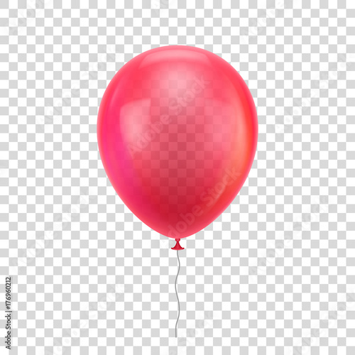 Fotomural Red realistic balloon