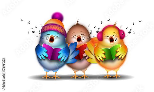 trzy-rozne-ptaszki-dajace-koncert